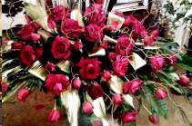 Exotic Rest Bouquet  Casket Spray (Roses)