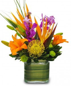 Exotic Style Flower Arrangement in Burbank, CA | MY BELLA FLOWER