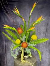 Exotic Sunset Tropical Flower Arrangement