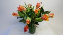 Exotic Tulips Designers Delight Mixed arrangement with Exotic Tulips