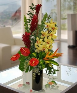Exotic Vase Arrangement Preorder Only