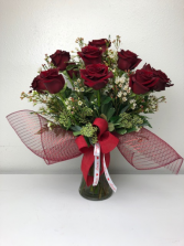 Explore The Love A Dozen Red Explorer Roses in a Vase
