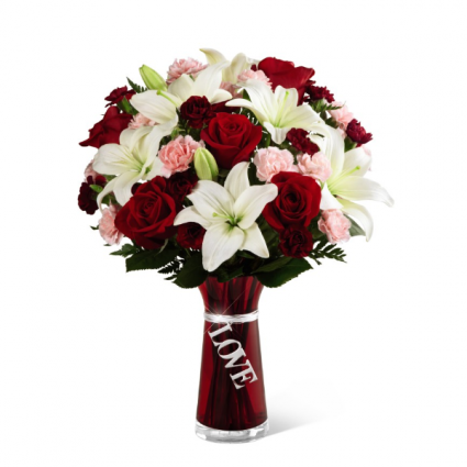 Express your love romantic vased arrangement