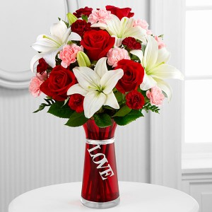 Expression of Love vase arrangement