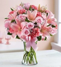 Expressions of Pink Vase Arrangement