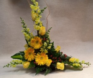 Expressive Yellows  Fresh Flower Arrangement in Port Huron, MI | CHRISTOPHER'S FLOWERS