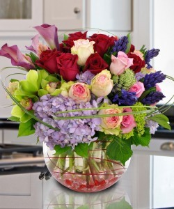 Exquisite Beauty Assorted High Style Flowers