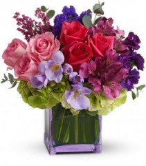 Exquisite Beauty Bouquet Cube Arrangement