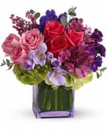Exquisite Beauty  lavender glass cube