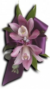 Exquisite Orchid Corsage T201-9A