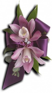 Exquisite Orchid Corsage T201-9A