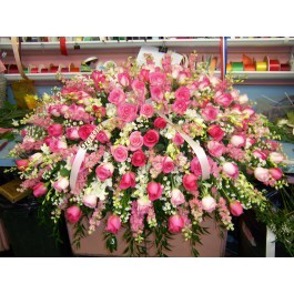 Exquisite Pink Casket Spray  in Bronx, NY | Bella's Flower Shop