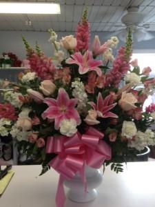 Exquisite Remembrance Urn Arrangement Funeral Flowers