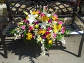 Exquisite Tribute Garden arrangement Casket Spray