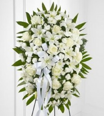 Exquisite Tribute Standing Spray White