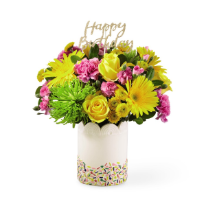 Extra Sprinkles Birthday Arrangement in Warman, SK | QUINN & KIM'S FLOWERS