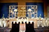 Extravagant Elegance Candle Wall Table Wedding Flowers