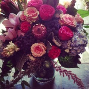 Lush Jewel Vase Arrangement