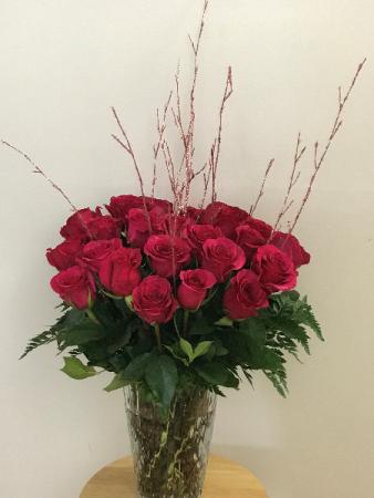 Extravagant Lover Vase tall arrangement