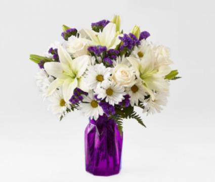 Extravagant Purple Floral Arrangement