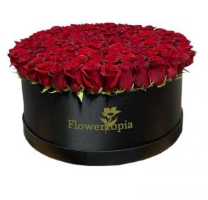 Extreme Love 100 Red Roses  in Miami, FL | FLOWERTOPIA