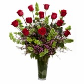 Extreme Rose Show Dozen Roses Vased Fully Embellished
