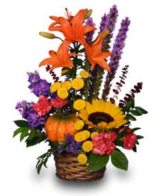 SUNNY PUMPKIN SURPRISE! in Bend, OR | AUTRY'S 4 SEASONS FLORIST
