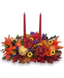 LET US GIVE THANKS Floral Centerpiece