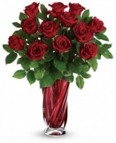 Red Rose Swirling Beauty Bouquet by Enchanted Florist