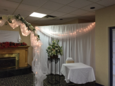 Fabric backdrop Wedding rentals