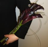 Fabulous Callas with Silver Glam Wedding Bouquet