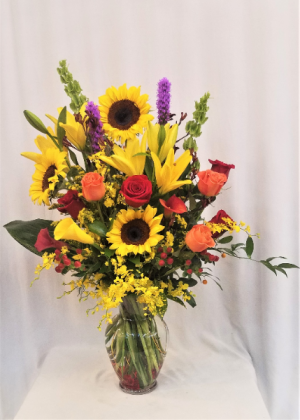 Fabulous Fall Arrangement in Boca Raton, FL | Flowers of Boca