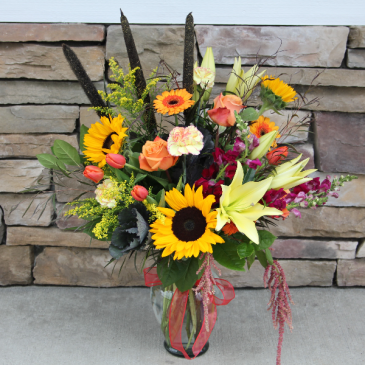 Fabulous Fall  Large Garden Vase