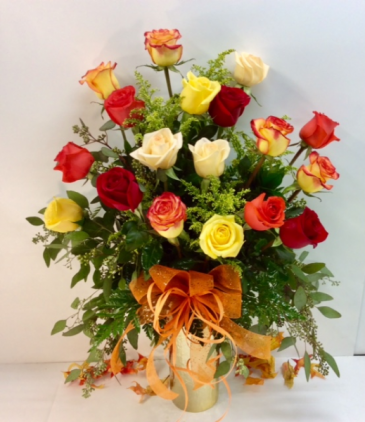 Warm Sunset Roses