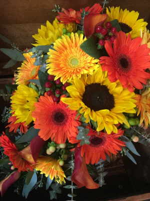 Fabulous Fall Wedding Cascading Brides Bouquet in Tyngsboro, MA | BLOSSOMS