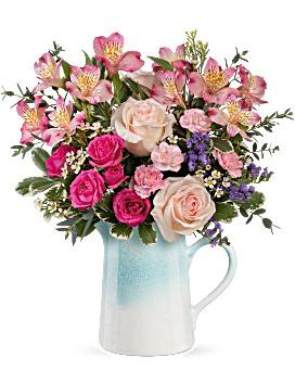 Fabulous farmhouse bouquet pitcher