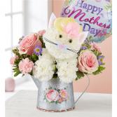FABULOUS FELINE FOR MOM FLOWERS IN WATERING CAN