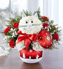 Fabulous Feline in Starry Night Ornament