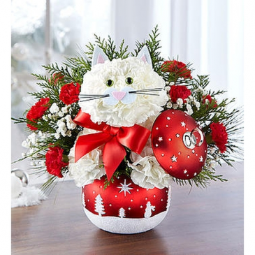 Fabulous Feline™ in Starry Night Ornament™ Arrangement
