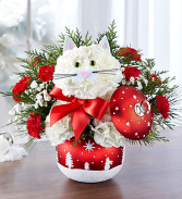 Fabulous Feline in Starry Night Ornament Ball