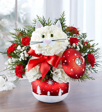 Fabulous Feline in Starry Night Ornament Ball