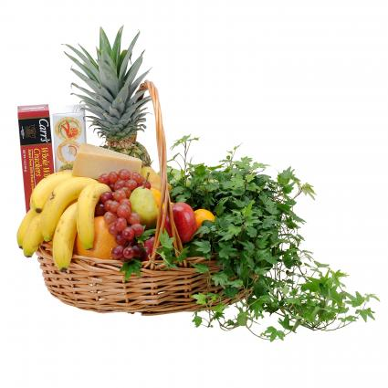 Fabulous Fruit and Cheese Basket Arrangement