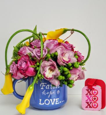 Faith and Hope Love Flower Arrangement