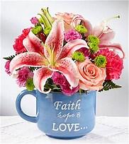 Faith, hope and love arrangement