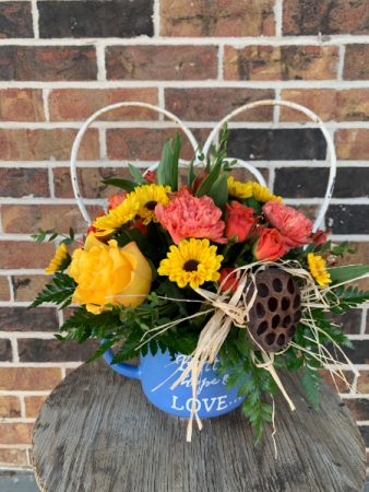 Faith, Hope & Love Floral Arrangement