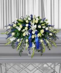 Faith & Love Casket Flowers