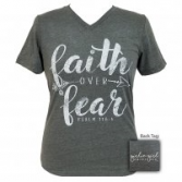 Faith over Fear Girlie Girl V-neck