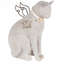 Faithful Cat Angel Stone statue