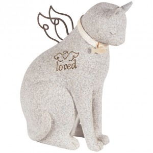 Faithful Cat Angel Stone statue