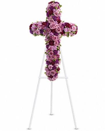 Faithful Cross Standing Spray